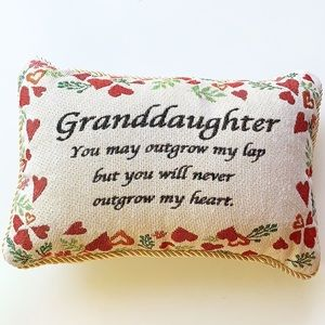 Granddaughter Gift | Vintage Design Throw Pillow
